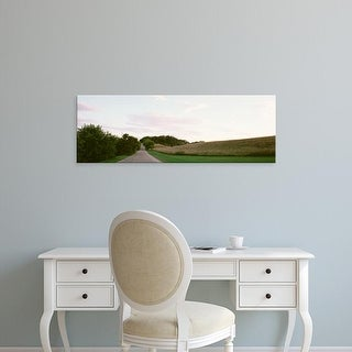 Easy Art Prints Panoramic Images's 'Road running through fields, Wisconsin, USA' Premium Canvas Art