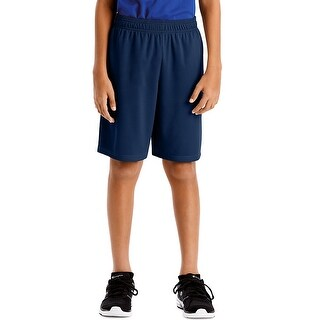 Hanes Sport Boys' 9-inch Performance Shorts with Pockets - Color - Navy - Size - S