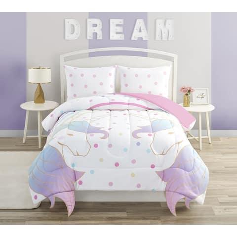 Magical Unicorn and Rainbow Comforter Set