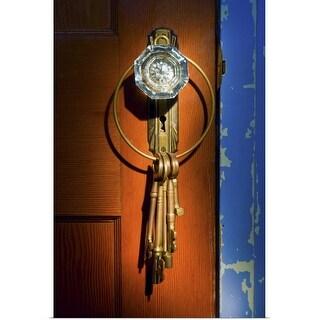 """Antique glass doorknob with keys"" Poster Print"