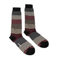 Missoni GM00CMU5233 0002 Black/Cream Knee Length Socks - S