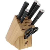 Miyabi Kaizen 7-pc Knife Block Set - Black/Stainless Steel