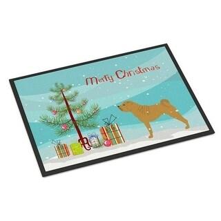Carolines Treasures BB2970MAT Shar Pei Merry Christmas Tree Indoor or Outdoor Mat 18x27