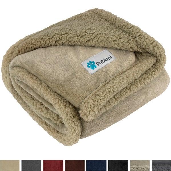 "PetAmi Dog Blanket | Fluffy Sherpa Dog Blanket for Puppy, Small Dog - 30"" x 40"""