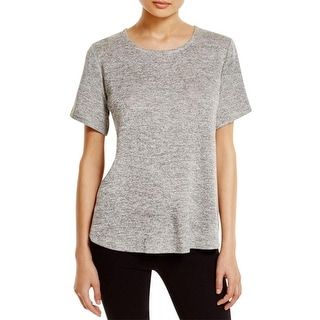 Nally & Millie Womens Casual Top Mesh Back Marled