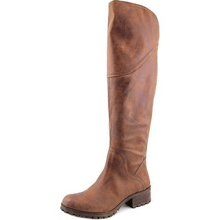 Lucky Brand Harleen Women Round Toe Canvas Brown Over the Knee Boot