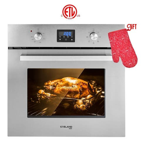 """Gasland Chef 24"""" Built-in Electric Single Wall Oven, 9 Cooking Function, Digital DisplayStainless Steel With Cooling Down Fan"""