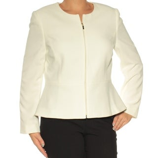 Womens White Wear To Work Blazer Jacket Size 14