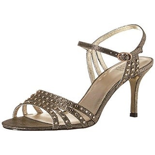 Adrianna Papell Womens Vonia Dress Sandals Shimmer Ankle Strap