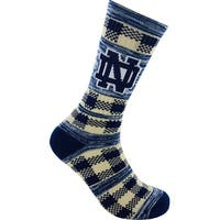 Notre Dame Fighting Irish Double Plaid Socks