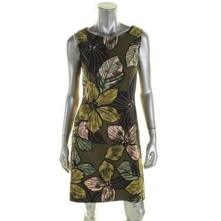 Connected Apparel Womens Casual Dress Sheath Sleeveless - 8