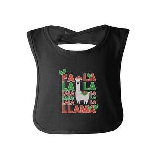 Falala Llama Cute Burp Cloths Baby Burp Bib Gift Black