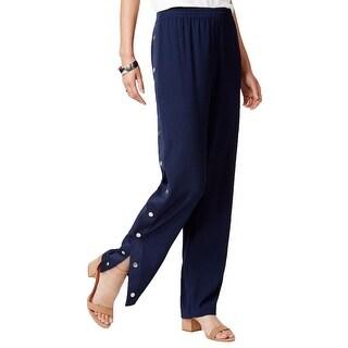 Karen Scott Womens Capri Pants French Terry Elastic Waist - M