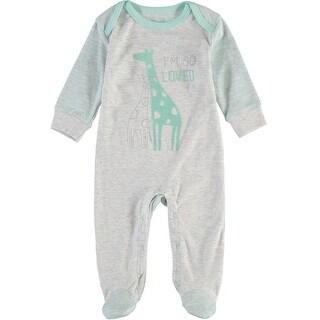 Rene Rofe Baby Boys 0-9 Months Giraffe Sleep and Play - grey