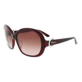 Salvatore Ferragamo SF612SA 608 Pink Square Sunglasses - 58-18-135