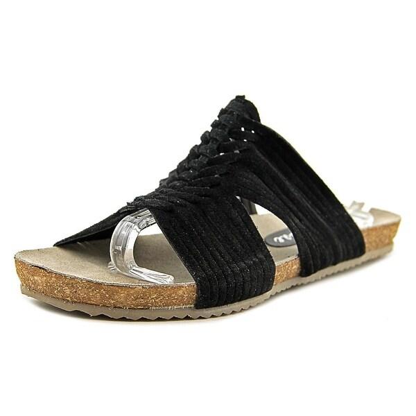 Matisse Cole Women Open Toe Suede Black Slides Sandal
