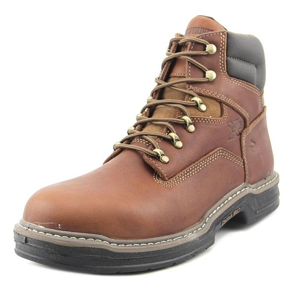 Wolverine Raider GTX 6 Men Round Toe Leather Brown Work Boot
