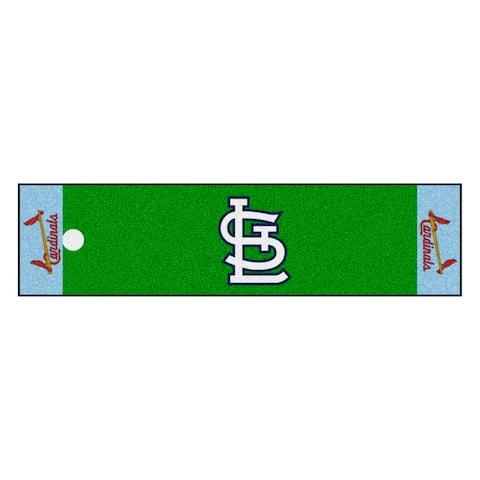 MLB - St. Louis Cardinals Retro Collection Putting Green Mat - 1.5ft. x 6ft. - (1976) - 1.5ft. X 6ft.