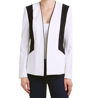 Nine West NEW White Black Womens Size 2 Open-Front Colorblock Jacket