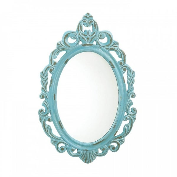 Baby Blue Accent Mirror. Opens flyout.