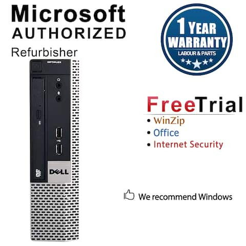 Dell OptiPlex 780 Desktop Computer USFF DC E5300 2.6G 8GB DDR3 320G Windows 10 Pro 1 Year Warranty (Refurbished) - Silver