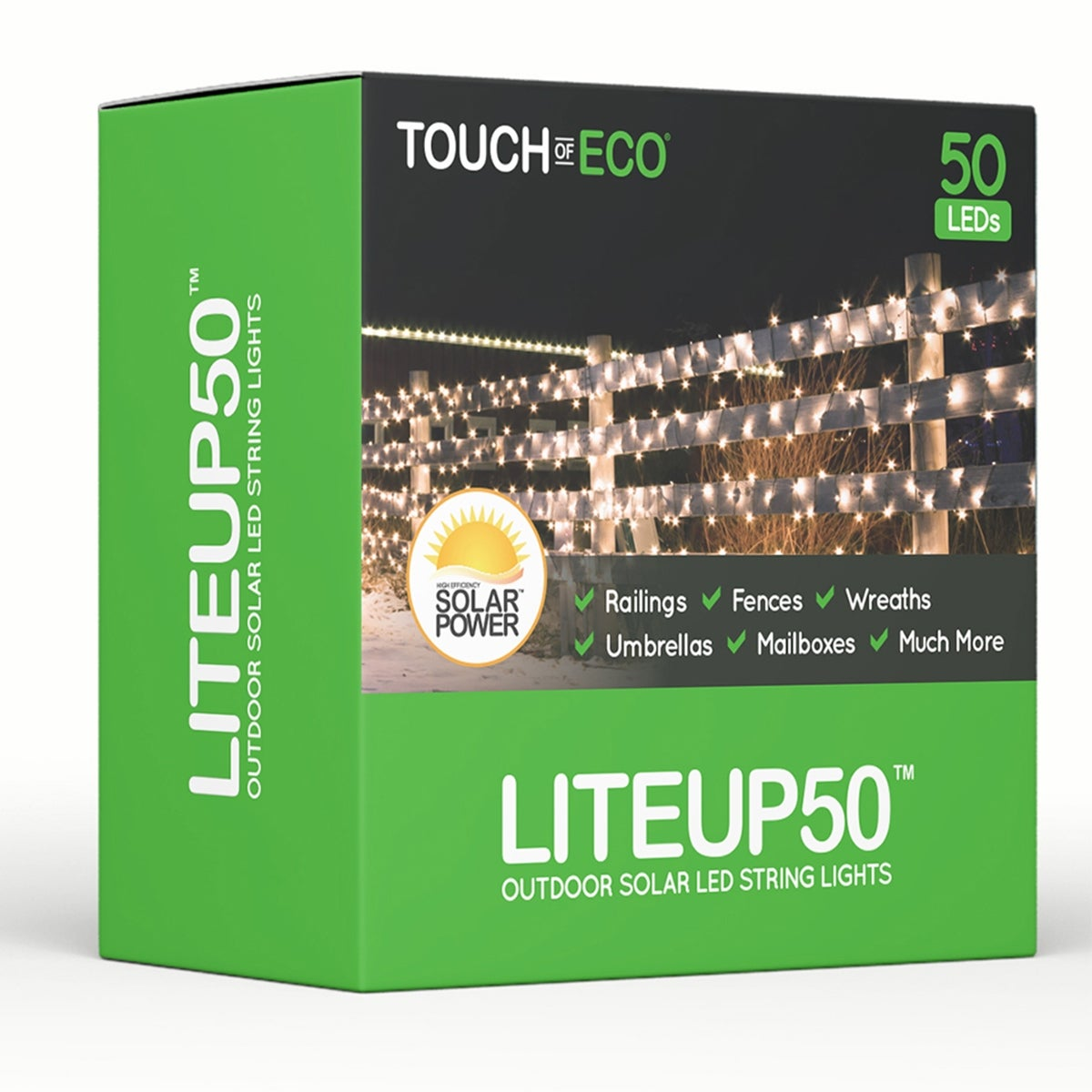 Liteup50 solar clip on string lights 50 count holiday or party liteup50 solar clip on string lights 50 count holiday or party lights mozeypictures Image collections