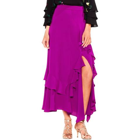 Vince Camuto Womens Maxi Skirt Ruffled Side Slit - 12