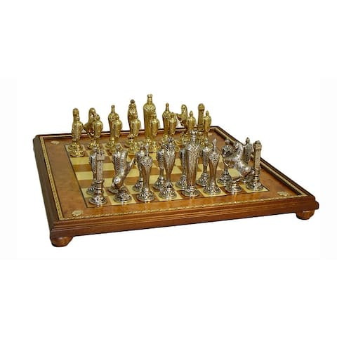 Renaissance Chess Set With Gold Trim Board - 2.5 X 22 X 22 inches