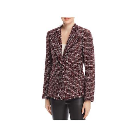 Karl Lagerfeld Womens Two-Button Blazer Tweed Long Sleeve - 4