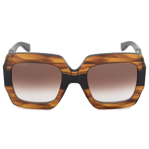 484daad4233 Gucci Gucci Oversized Square Sunglasses GG0178S 004 54