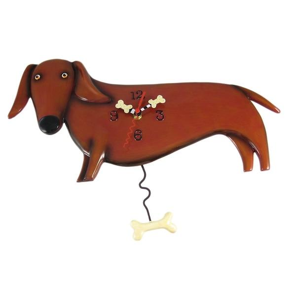 Allen Designs Oscar Dachshund Dog Wall Clock Wiener - 10.25 X 10.25 X 0.5 inches