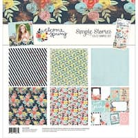 "Welcome Spring - Simple Stories Simple Sets Collection Kit 12""X12"""