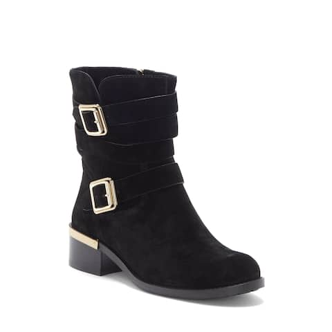 Vince Camuto Womens Webey Fabric Closed Toe Mid-Calf Fashion Boots - 9.5