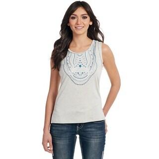 Cowgirl Up Western Shirt Womens Hand Laced Geometric Crocheted CG60706