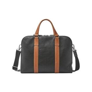 Fossil Mens Mayfair Messenger Briefcase Leather Workbag