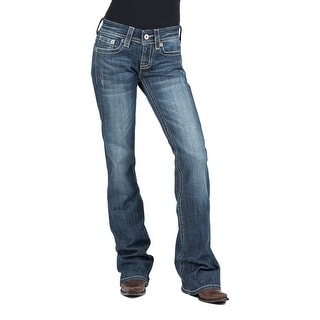 Stetson Western Denim Jeans Womens 816 Classic Med 11-054-0816-1310 BU