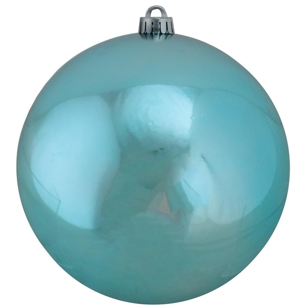 "Shatterproof Shiny Turquoise Blue Christmas Ball Ornament 8"" (200mm)"