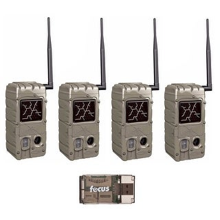 Cuddeback 20MP Dual Flash Trail Camera (4) with CuddeLink CL-Caps and USB Reader