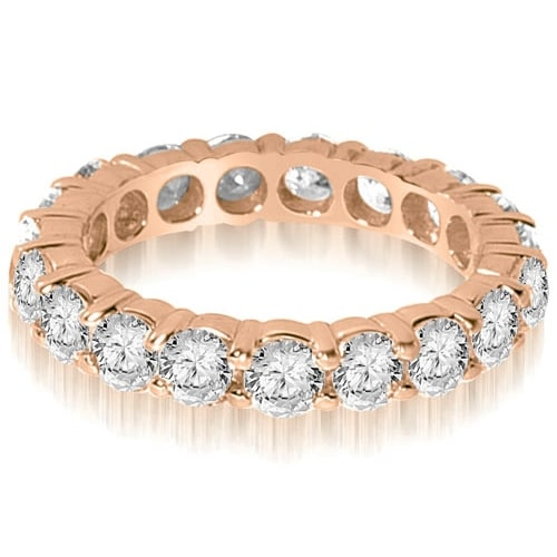 2.90 cttw. 14K Rose Gold Round Shared Prong Diamond Eternity Ring