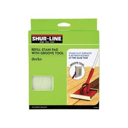 Shur-Line 1791258 Deck Stain Pad with Groove Tool Refill