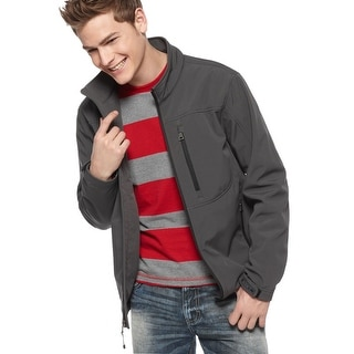 Guess Boulder Active Mens Softshell Charcoal Grey Jacket XX-Large Zippered