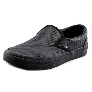Vans Classic Slip-On Women Round Toe Leather Black Skate Shoe