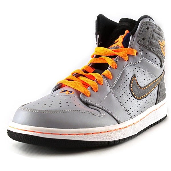 Jordan Air Jordan 1 Retro '93 Men Round Toe Synthetic Gray Sneakers