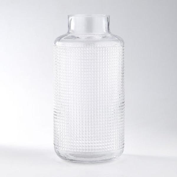 "12"" Clear Cylindrical Handblown Glass Bud Vase - N/A"