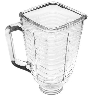 5 Cup Square Top Glass Blender Replacement Jar for Oster & Osterizer
