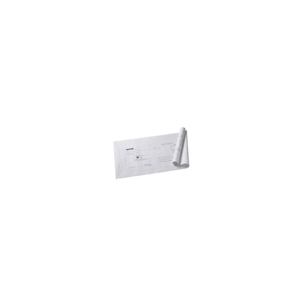 Kohler K-531 Underscore Life Size Undermount Installation Cutout Template and Instructions for the K-1121 and K-1167 Bath Tubs