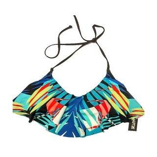 Apt-9 Women's Flounce Bandeau Halter Bikini Top Multi-Color X-Large - MultiColor