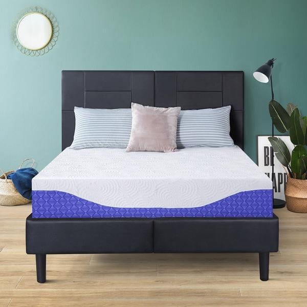 Sleeplanner 14-inch Dura Metal Bed Frame with Black Headboard. Opens flyout.