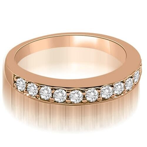 0.50 cttw. 14K Rose Gold Classic Round Cut Diamond Wedding Ring