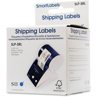 "Seiko SLP-SRL Seiko SmartLabel SLP-SRL Shipping Label - 2.12"" Width x 4"" Length - 220/Roll - 0.79"" CoreRoll -"